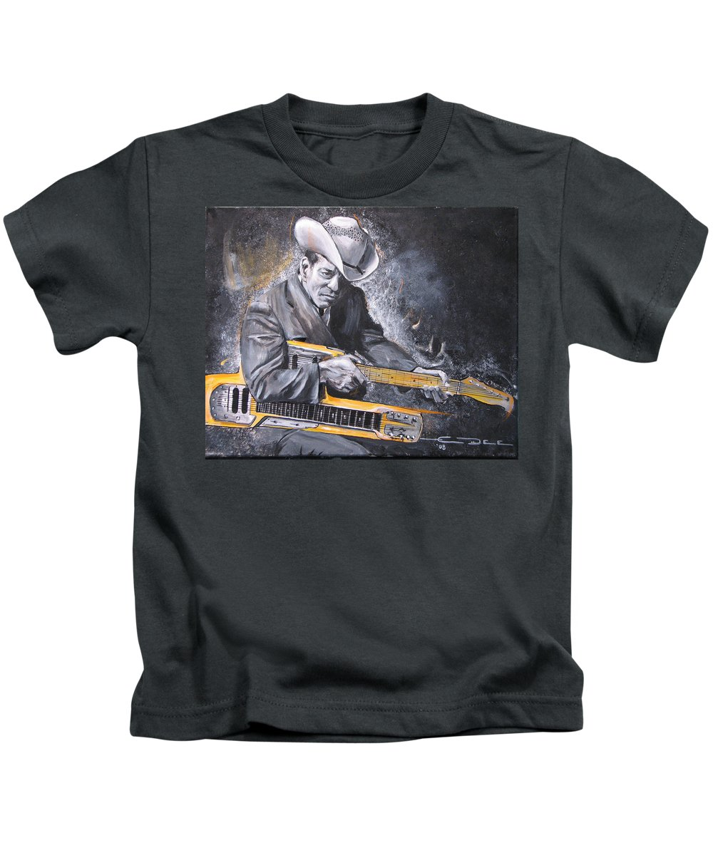 Jr. Brown Kids T-Shirt featuring the painting Jr. Brown by Eric Dee