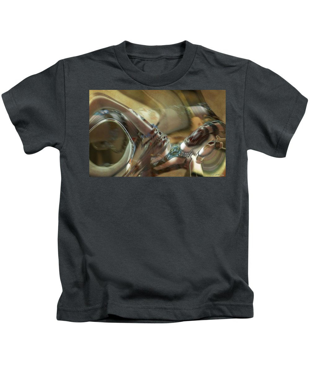 Abstract Kids T-Shirt featuring the painting Judgment by RC DeWinter