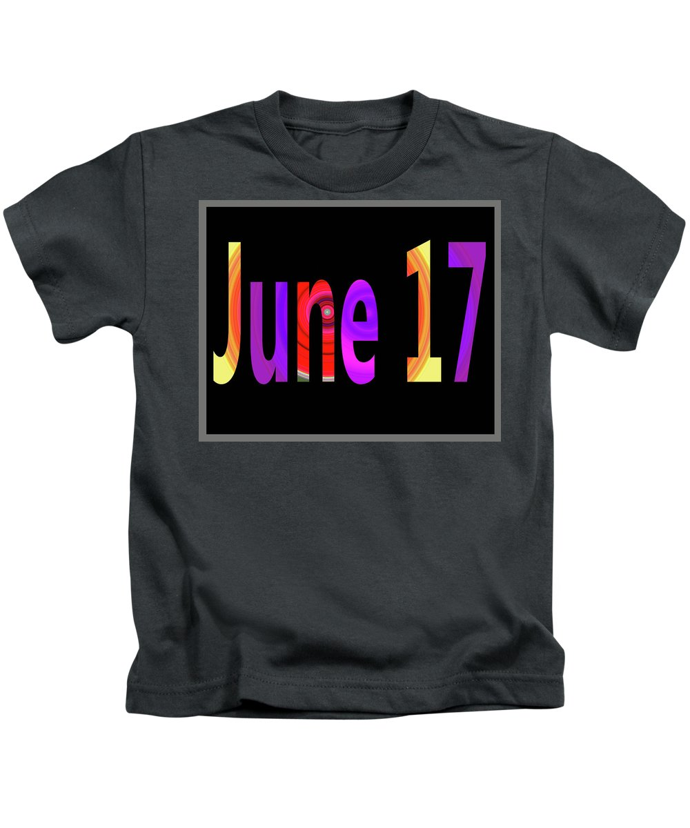 June Kids T-Shirt featuring the digital art June 17 by Day Williams