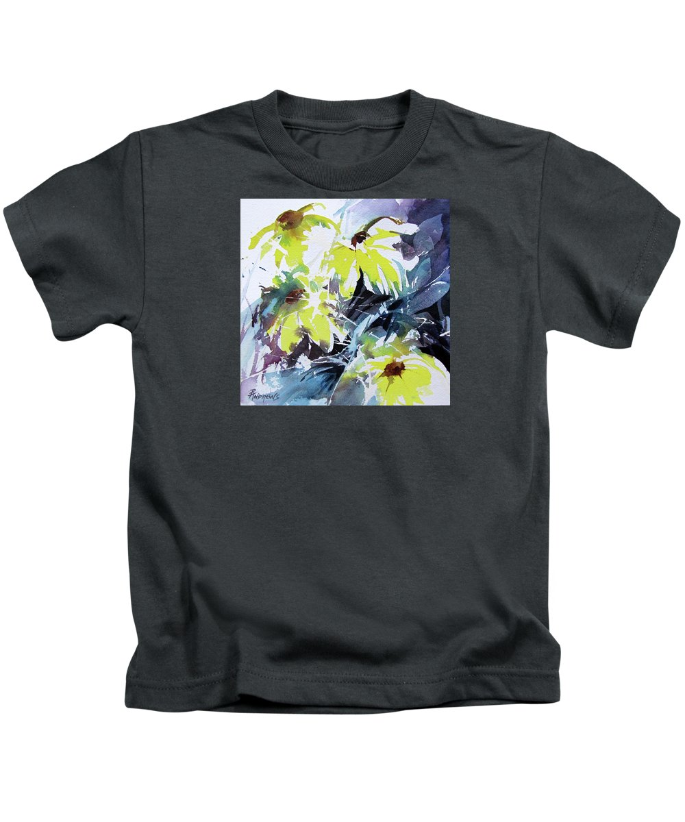 Watercolor Kids T-Shirt featuring the painting Just A Splash Of Yellow by Rae Andrews
