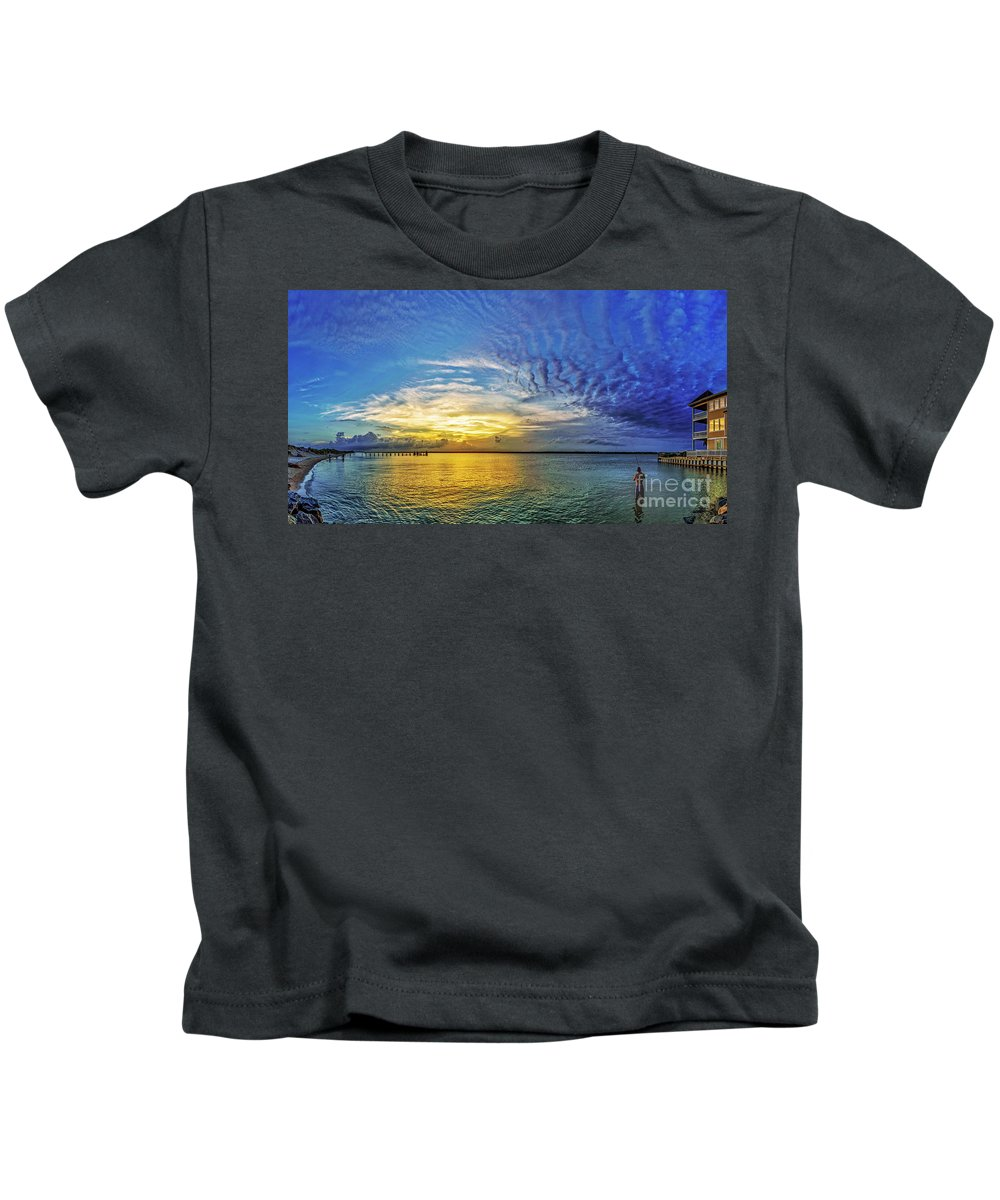 Topsail Kids T-Shirt featuring the photograph Just Fishin by DJA Images
