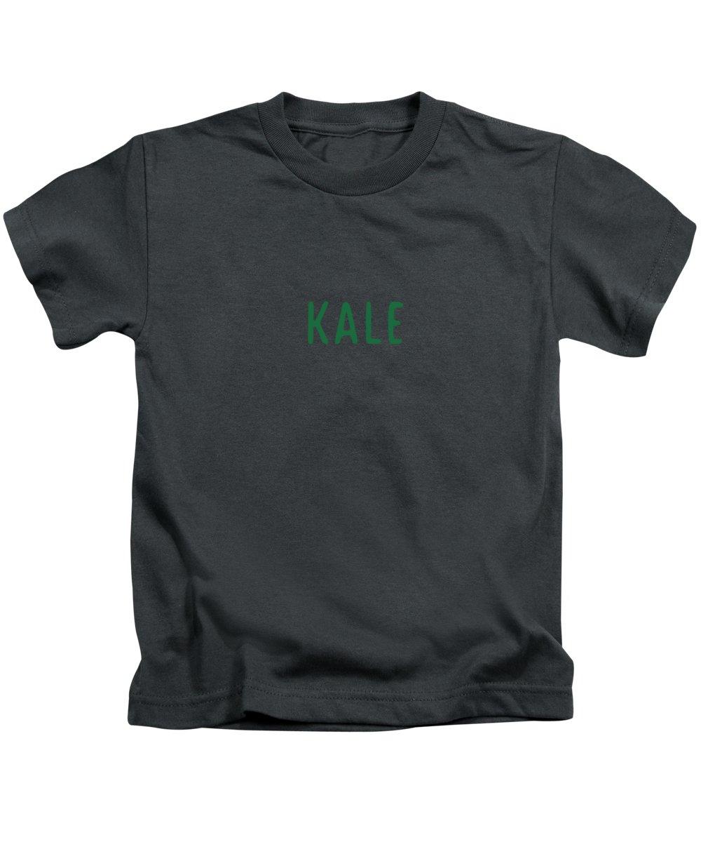 Text Kids T-Shirt featuring the digital art Kale by Cortney Herron