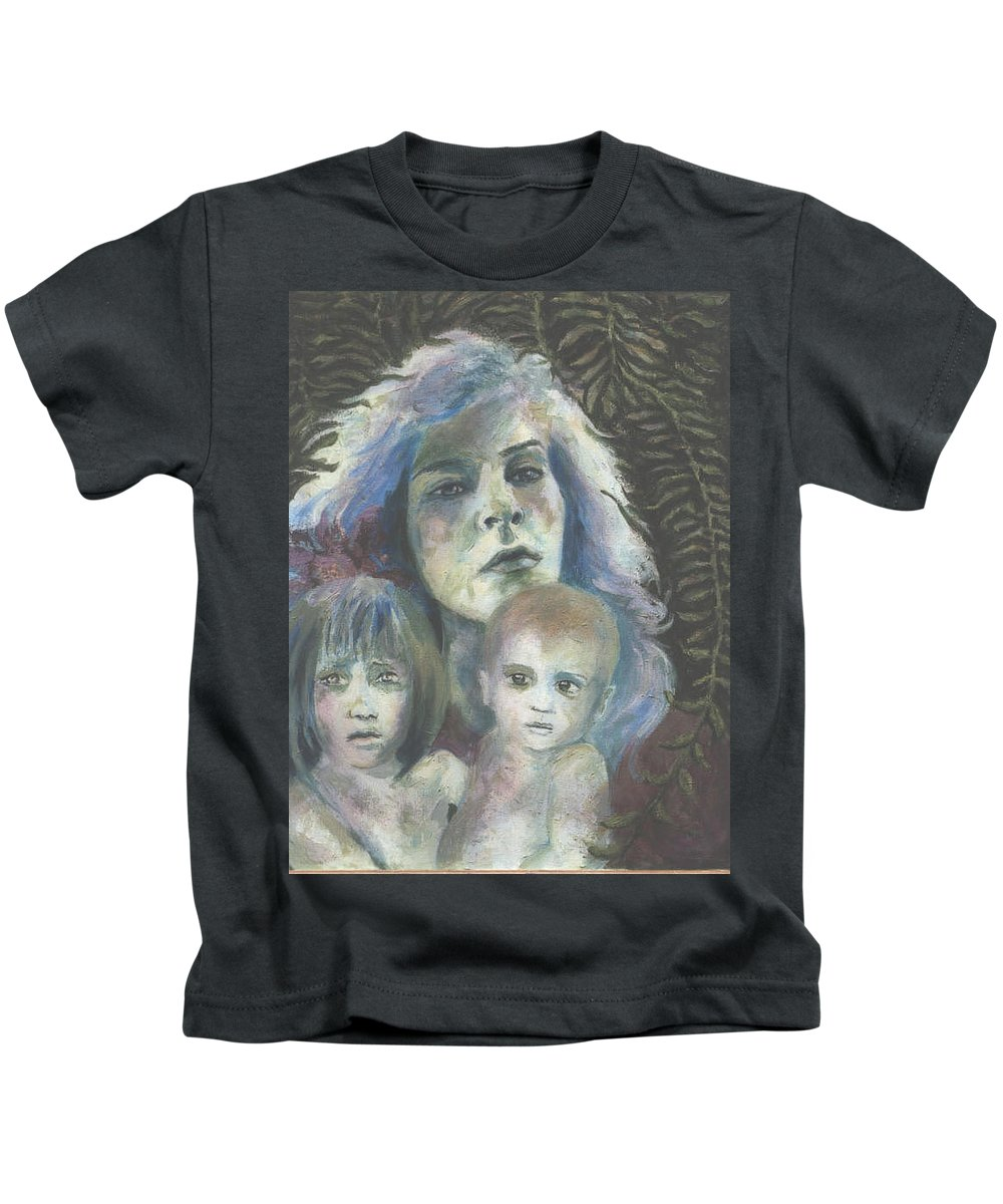 Woman Kids T-Shirt featuring the painting Katrina by Connie Freid