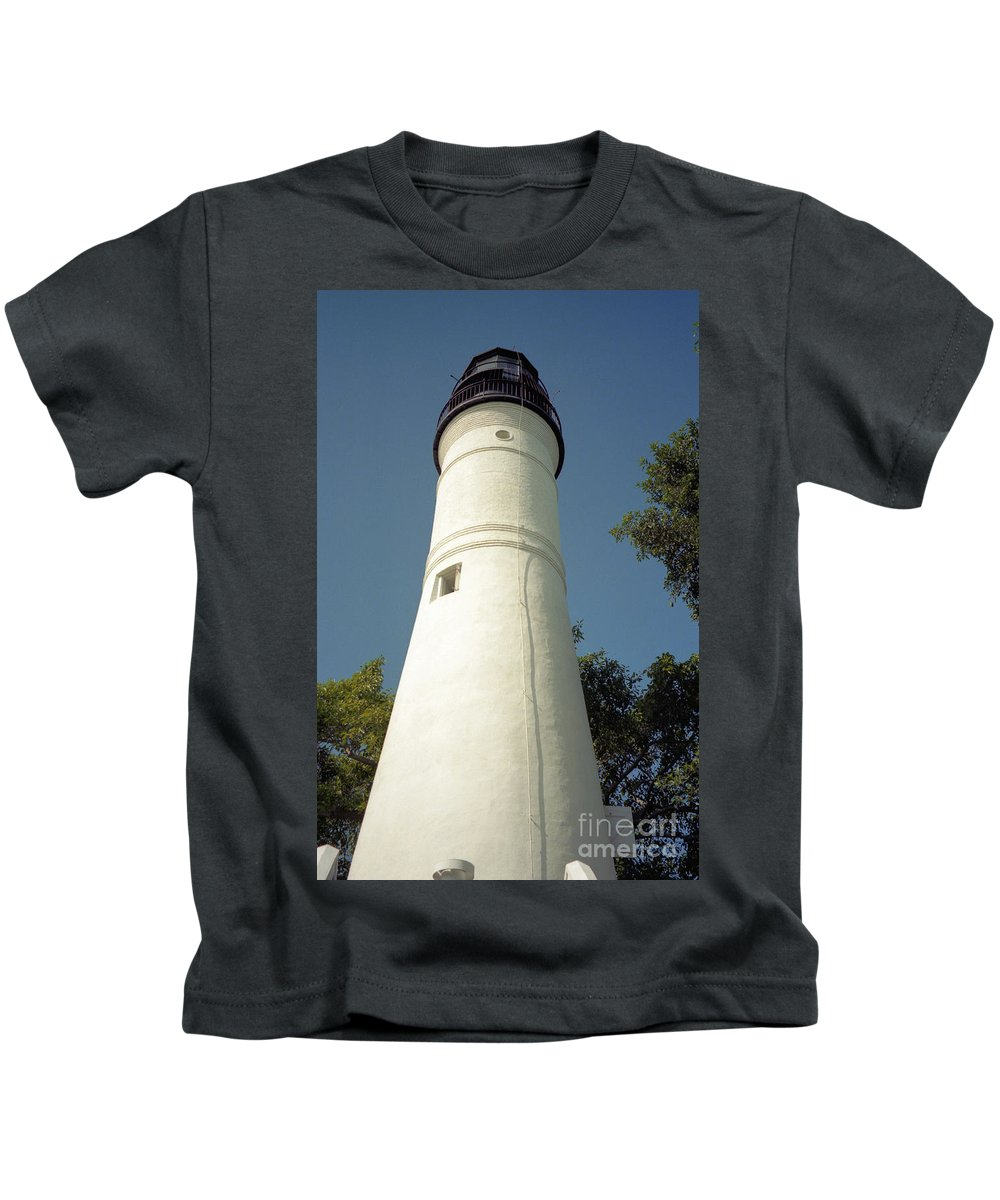 Lighthouses Kids T-Shirt featuring the photograph Key West Lighthouse by Richard Rizzo