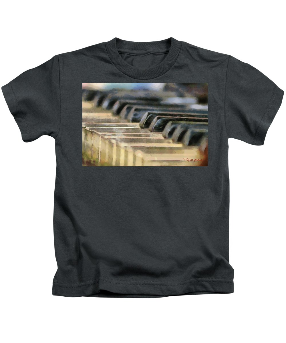 Piano Kids T-Shirt featuring the painting Keys To My Heart by Lynne Jenkins