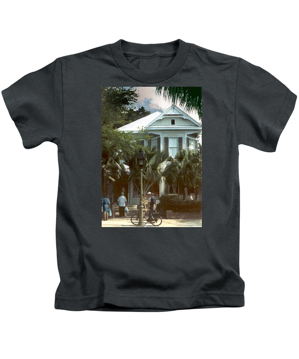 Historic Kids T-Shirt featuring the photograph Keywest by Steve Karol