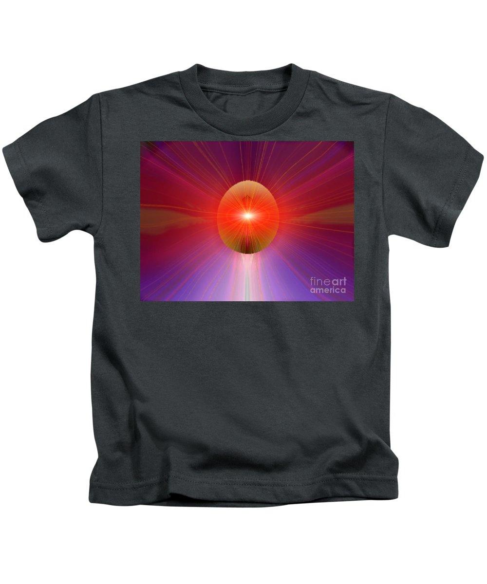 Ki Kids T-Shirt featuring the digital art Ki Series. 205 V by Oscar Basurto Carbonell
