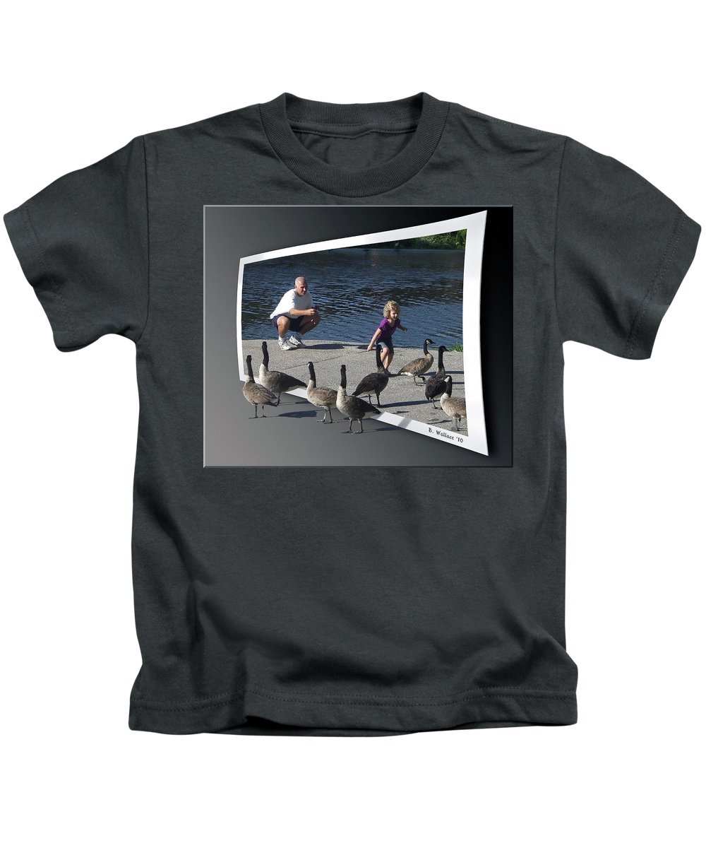 2d Kids T-Shirt featuring the photograph Kids Will Be Kids 2 by Brian Wallace