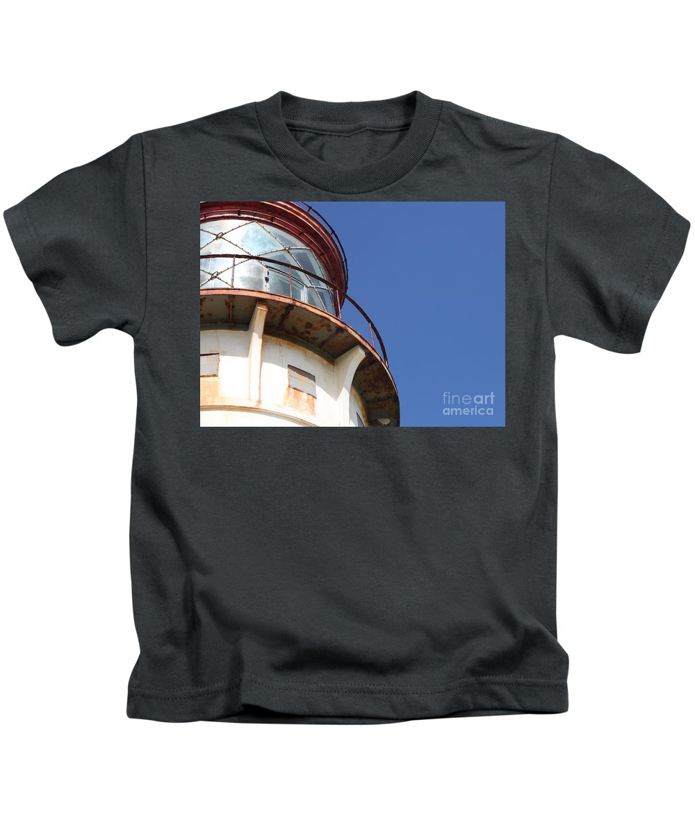 Kilauea Kids T-Shirt featuring the photograph Kilauea Lighthouse Against The Sky by Nadine Rippelmeyer