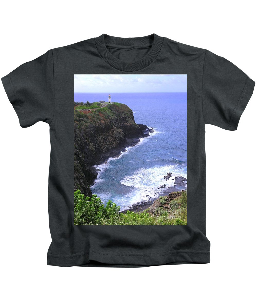 Lighthouse Kids T-Shirt featuring the photograph Kilauea Lighthouse And Bird Sanctuary by Mary Deal
