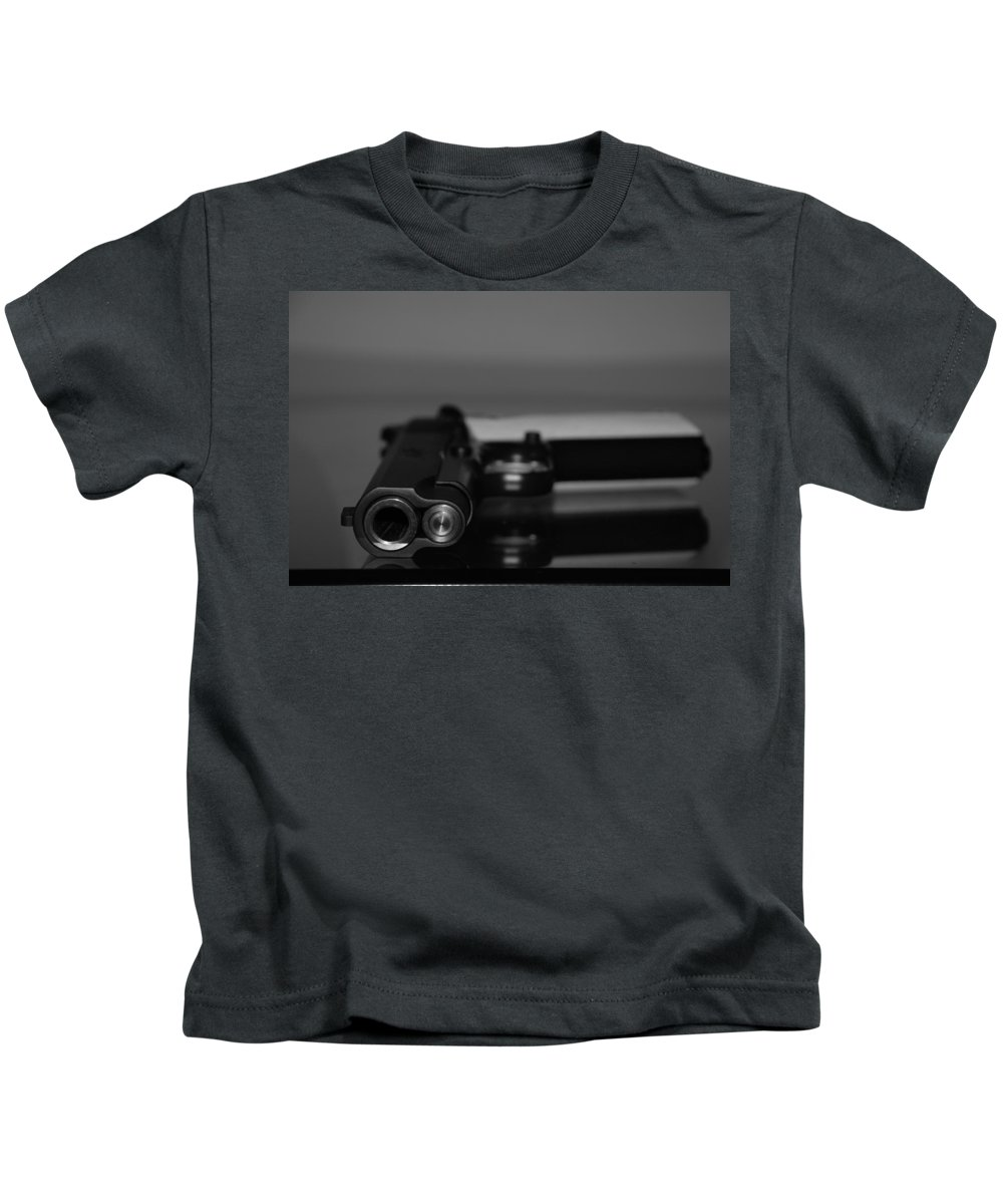 45 Auto Kids T-Shirt featuring the photograph Kimber 45 by Rob Hans