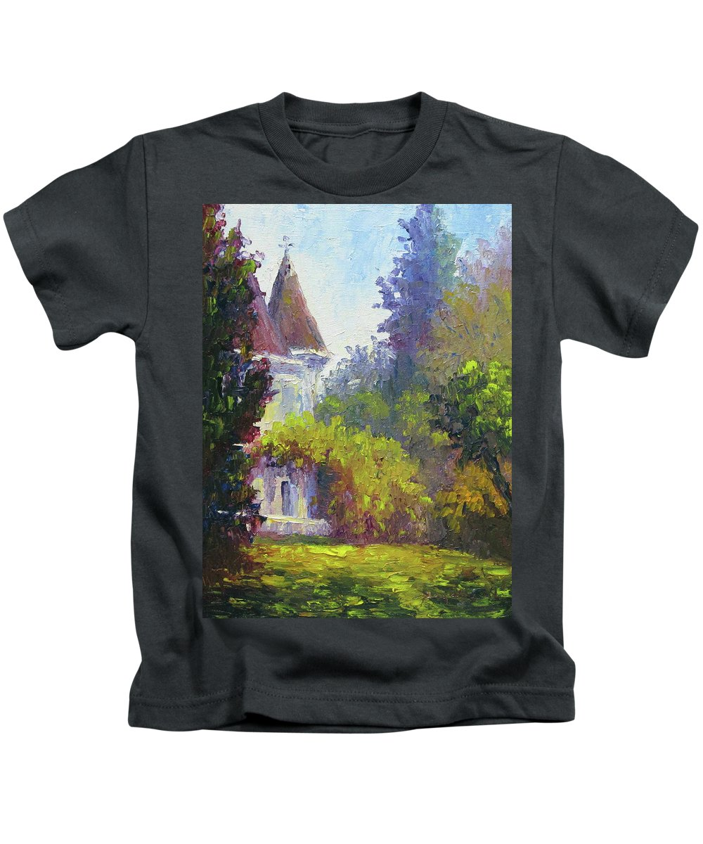 Impressionist Kids T-Shirt featuring the painting Kimberly Crest by Terry Chacon