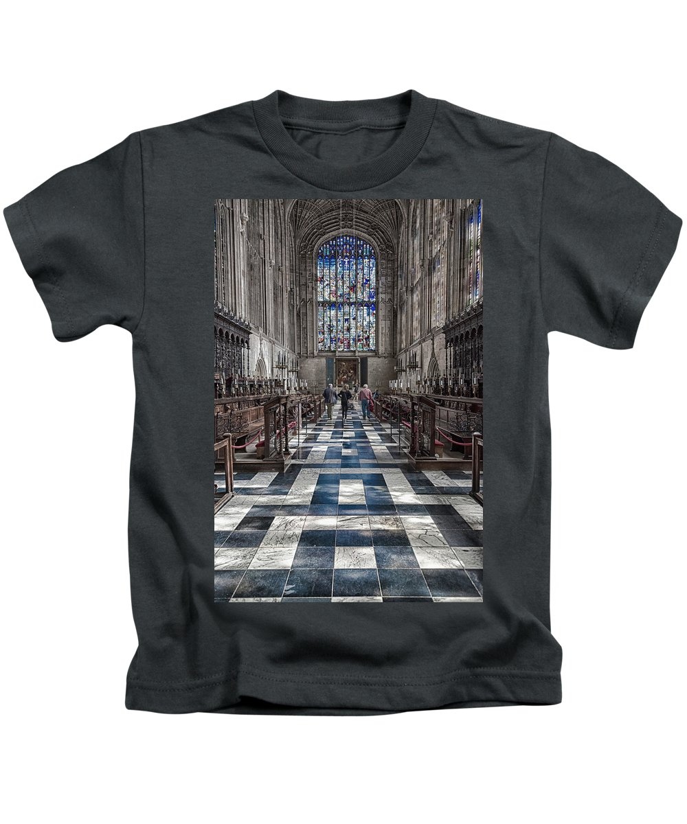 Cambridge Kids T-Shirt featuring the photograph Kings Altar by Monika Tymanowska