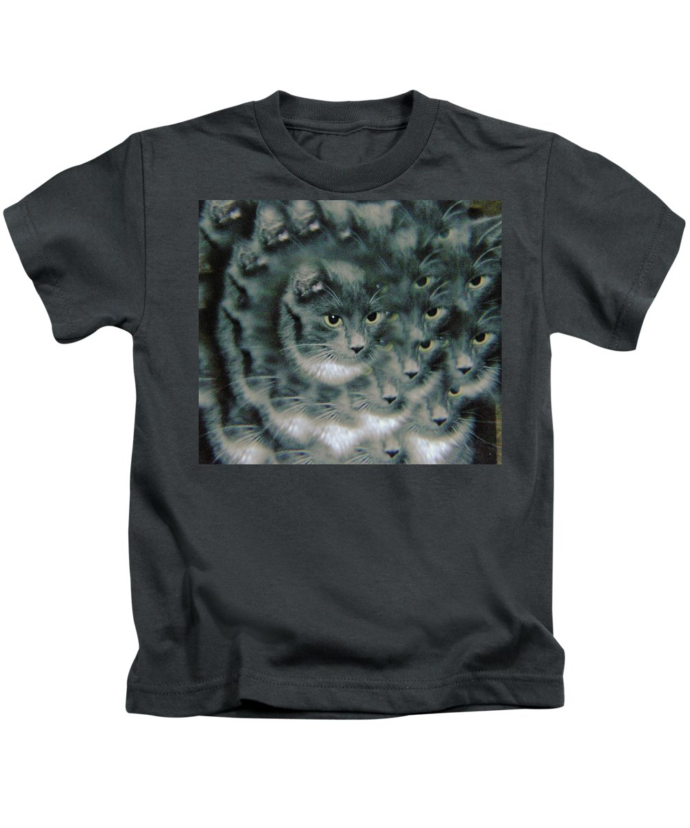 Cats Kids T-Shirt featuring the photograph Kitty Portrait by Jeff Swan
