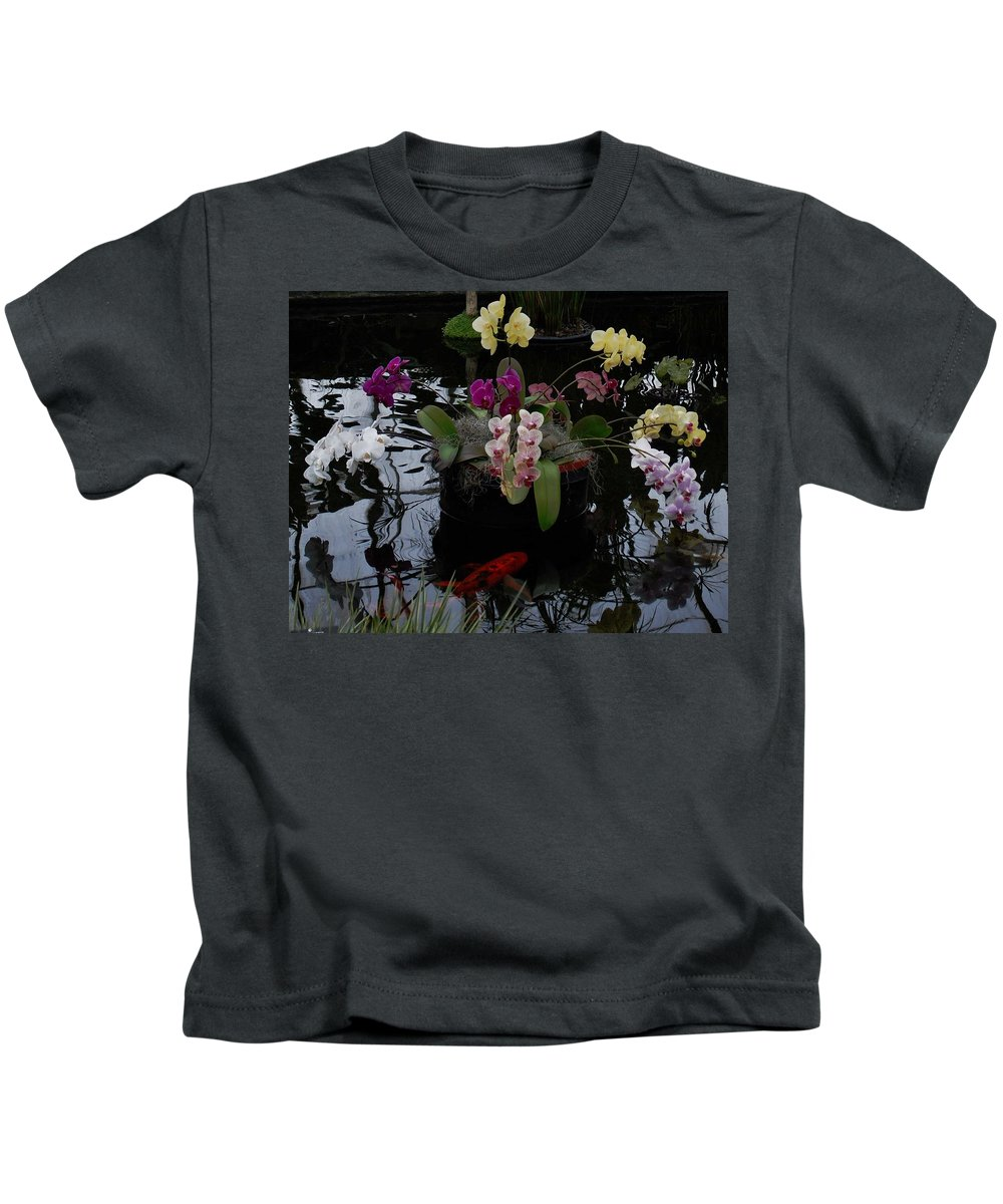 Pond Kids T-Shirt featuring the photograph Koi Pond by Eileen Marie Ardillo