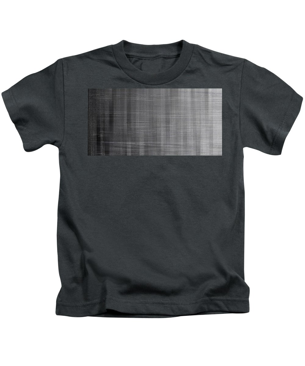 Rithmart Abstract Horizon Land Sky Water Landscape Cloud Clouds Lake Wind Nature Beatiful Serene Ripples Night Day Evening River Grass Earth Planet Digital Computer Generated Organic Random Across Colors Containing Drawn Grayish Image Images Layer Lines Made Many One Partially Placed Randomly Rectangular Sections Sequence Series Shapes Two Using Vaguely Visible Kids T-Shirt featuring the digital art L19-136 by Gareth Lewis