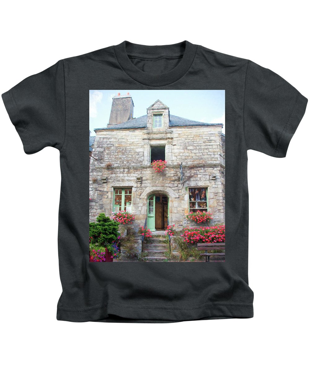 La Gacilly Kids T-Shirt featuring the photograph La Gacilly, Morbihan, Brittany, France, Shop by Curt Rush