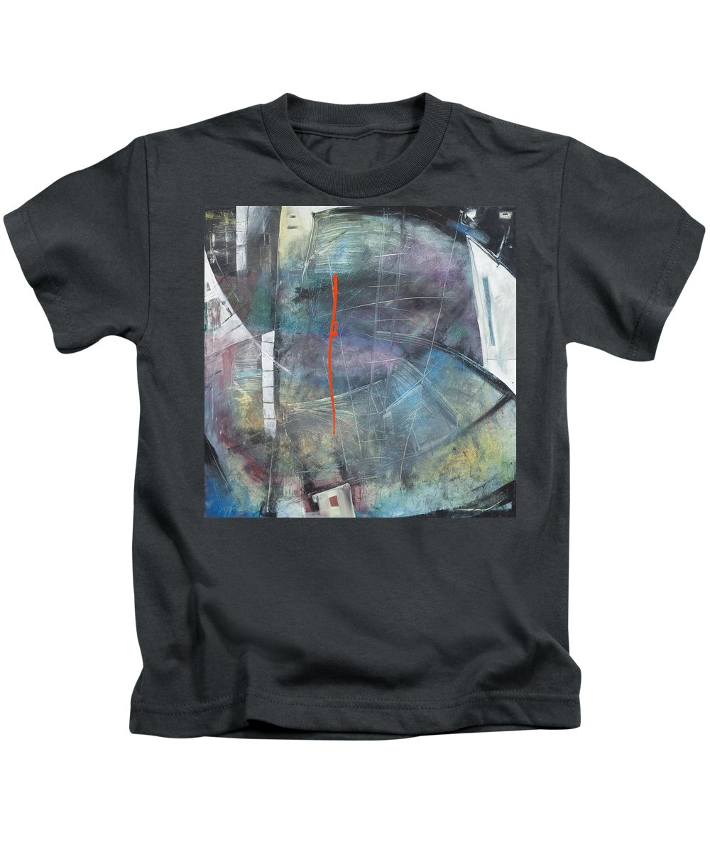 Abstract Kids T-Shirt featuring the painting La Mort Au Cirque by Tim Nyberg