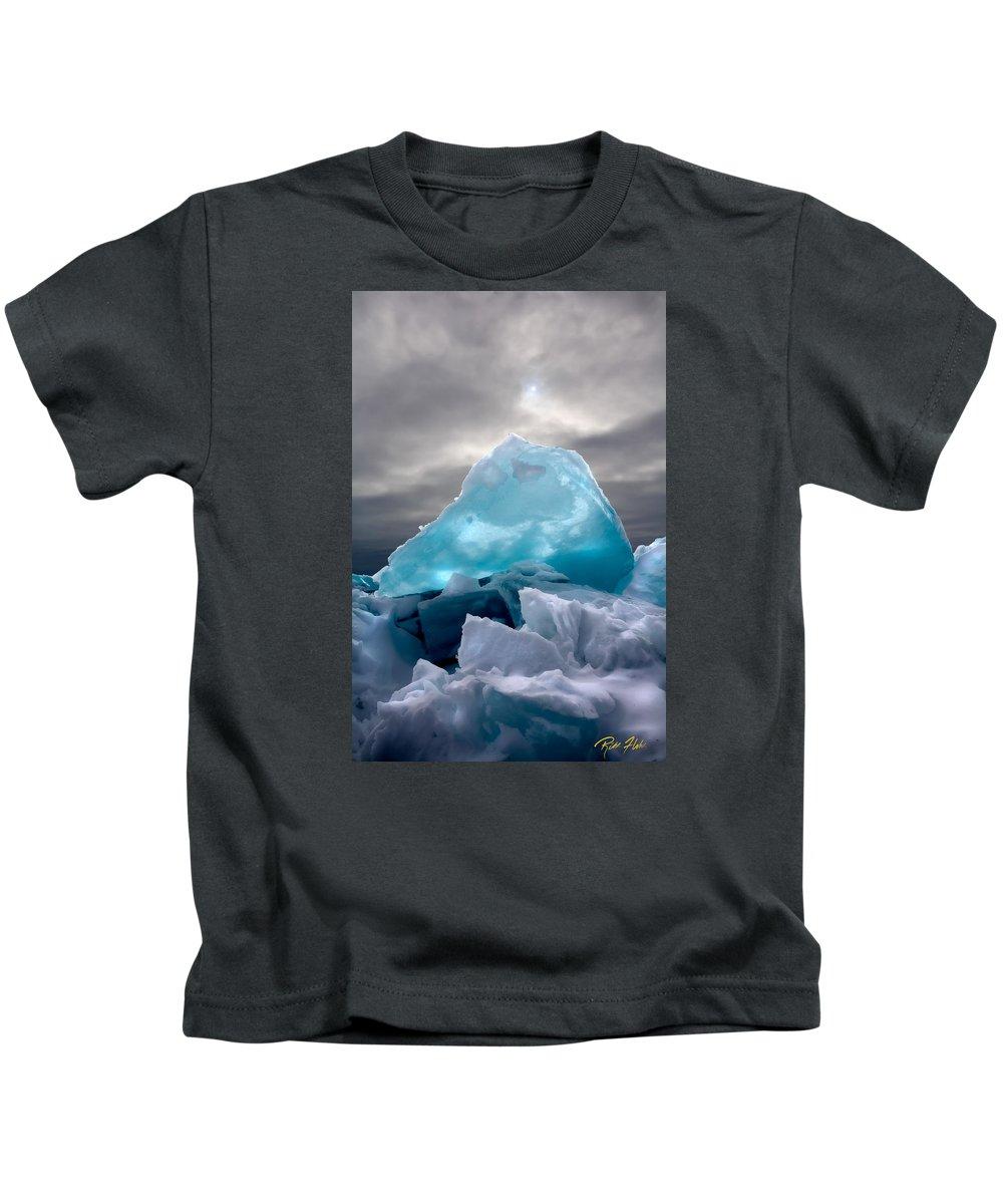 Minnesota Kids T-Shirt featuring the photograph Lake Ice Berg by Rikk Flohr