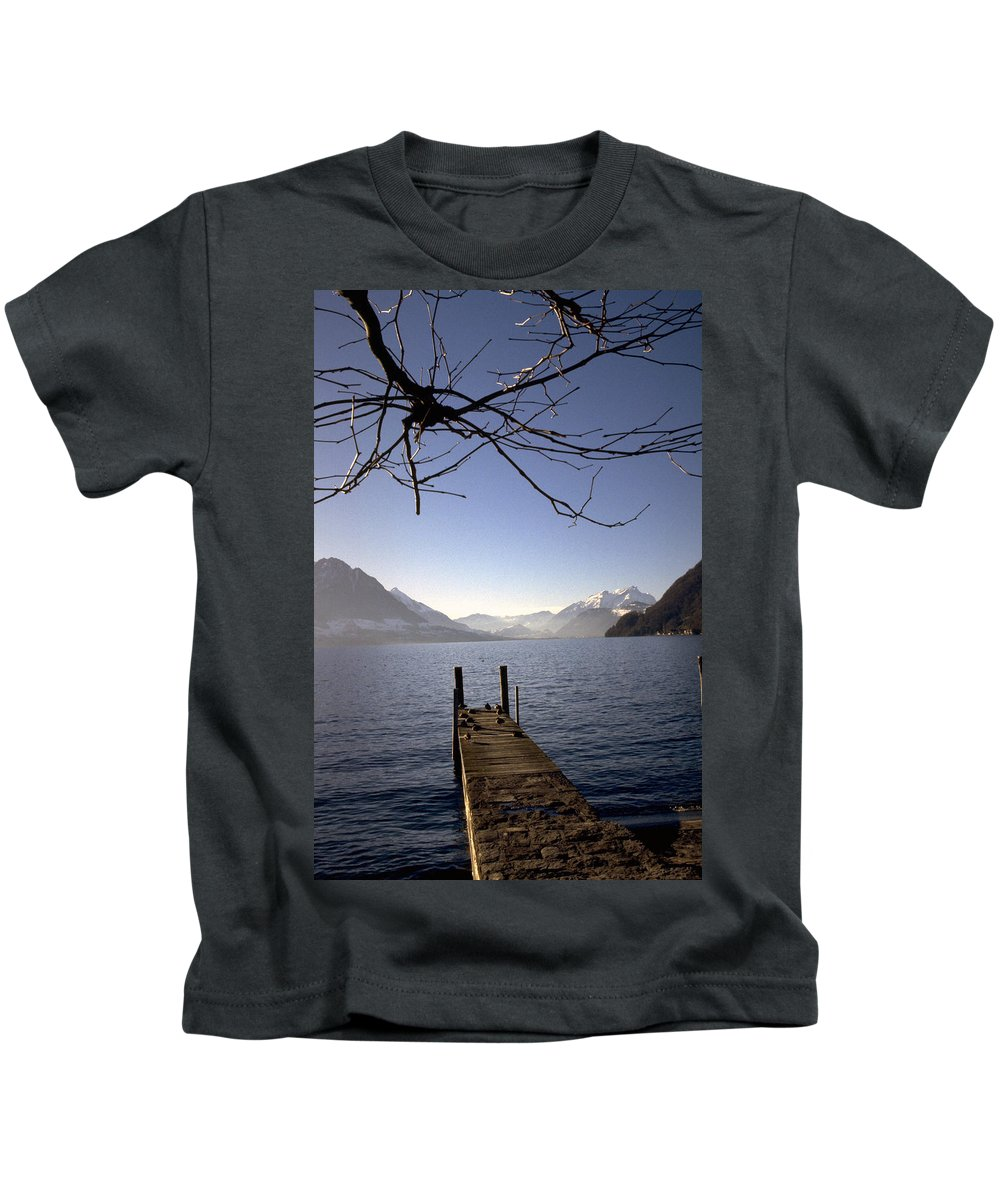 Lake Lucerne Kids T-Shirt featuring the photograph Lake Lucerne by Flavia Westerwelle