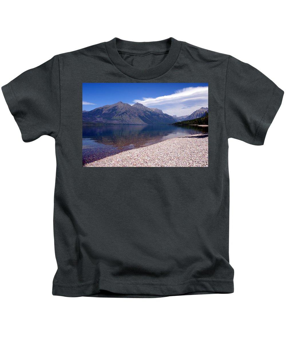 Glacier National Park Kids T-Shirt featuring the photograph Lake Mcdonald Reflection Glacier National Park 4 by Marty Koch