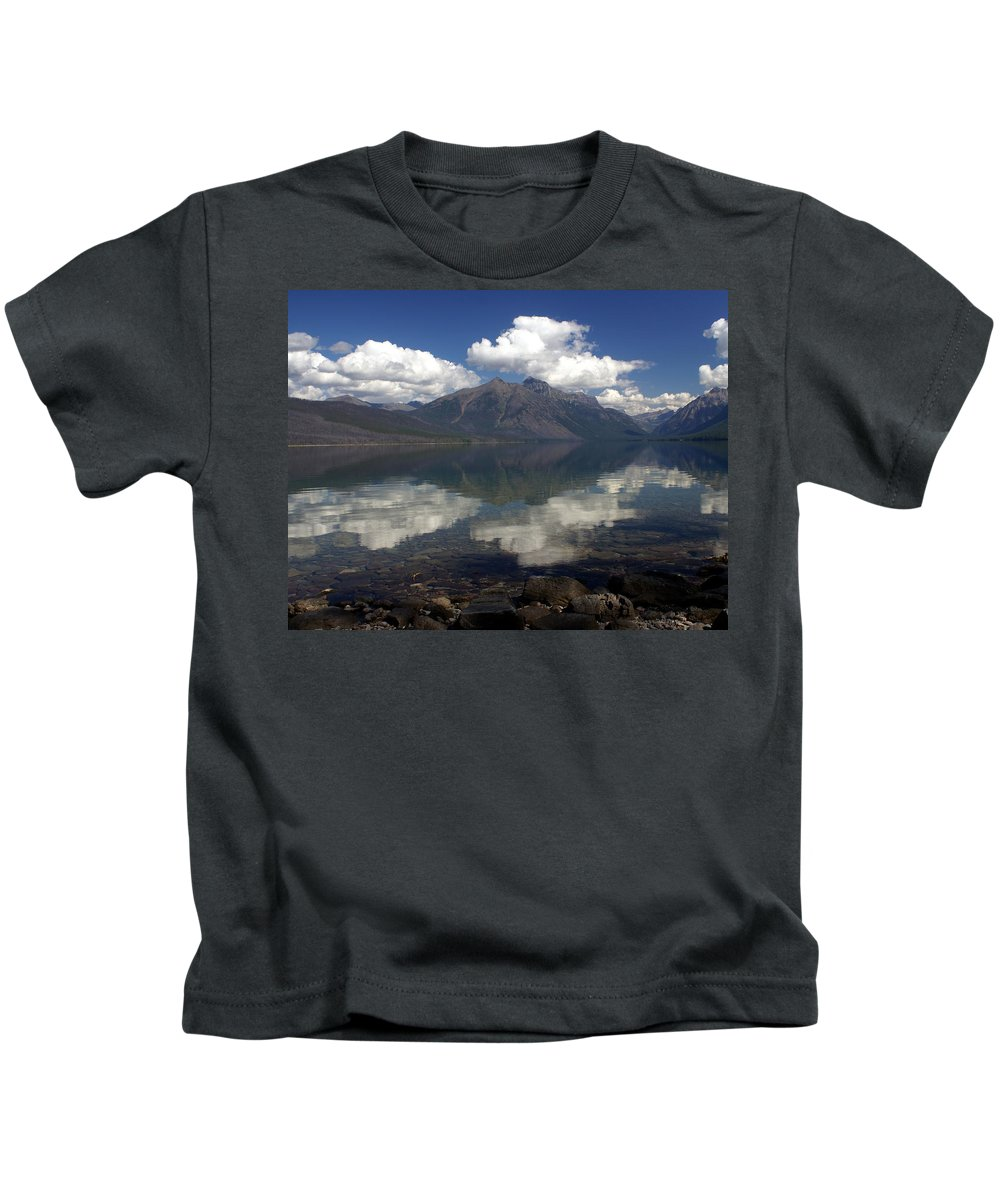 Glacier National Park Kids T-Shirt featuring the photograph Lake Mcdonald Reflection Glacier National Park by Marty Koch