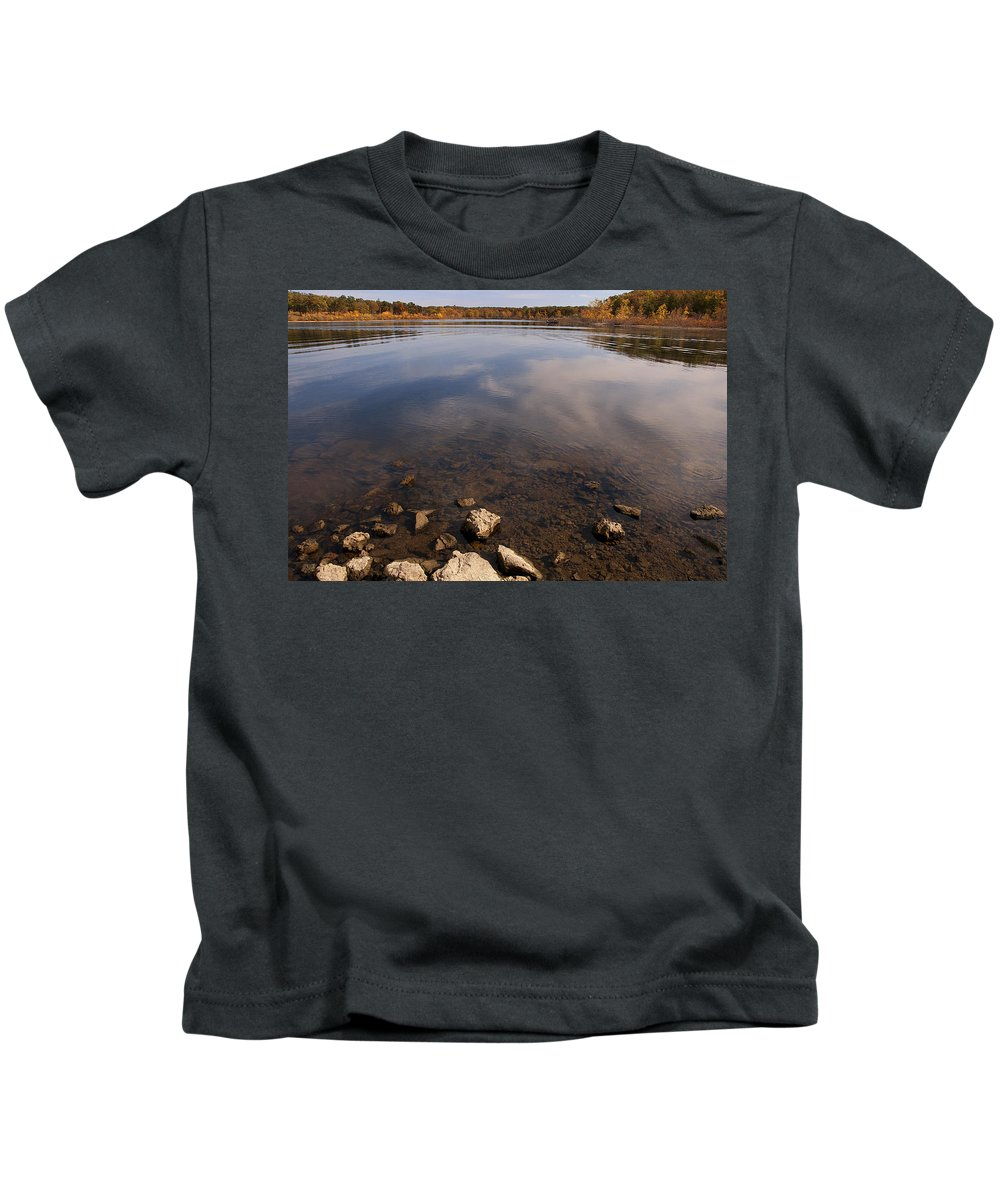 Lake Kids T-Shirt featuring the photograph Lake Pomme De Terre In October by Mitch Spence