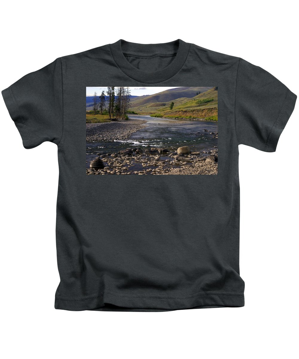 Yellowstone National Park Kids T-Shirt featuring the photograph Lamar Valley 3 by Marty Koch