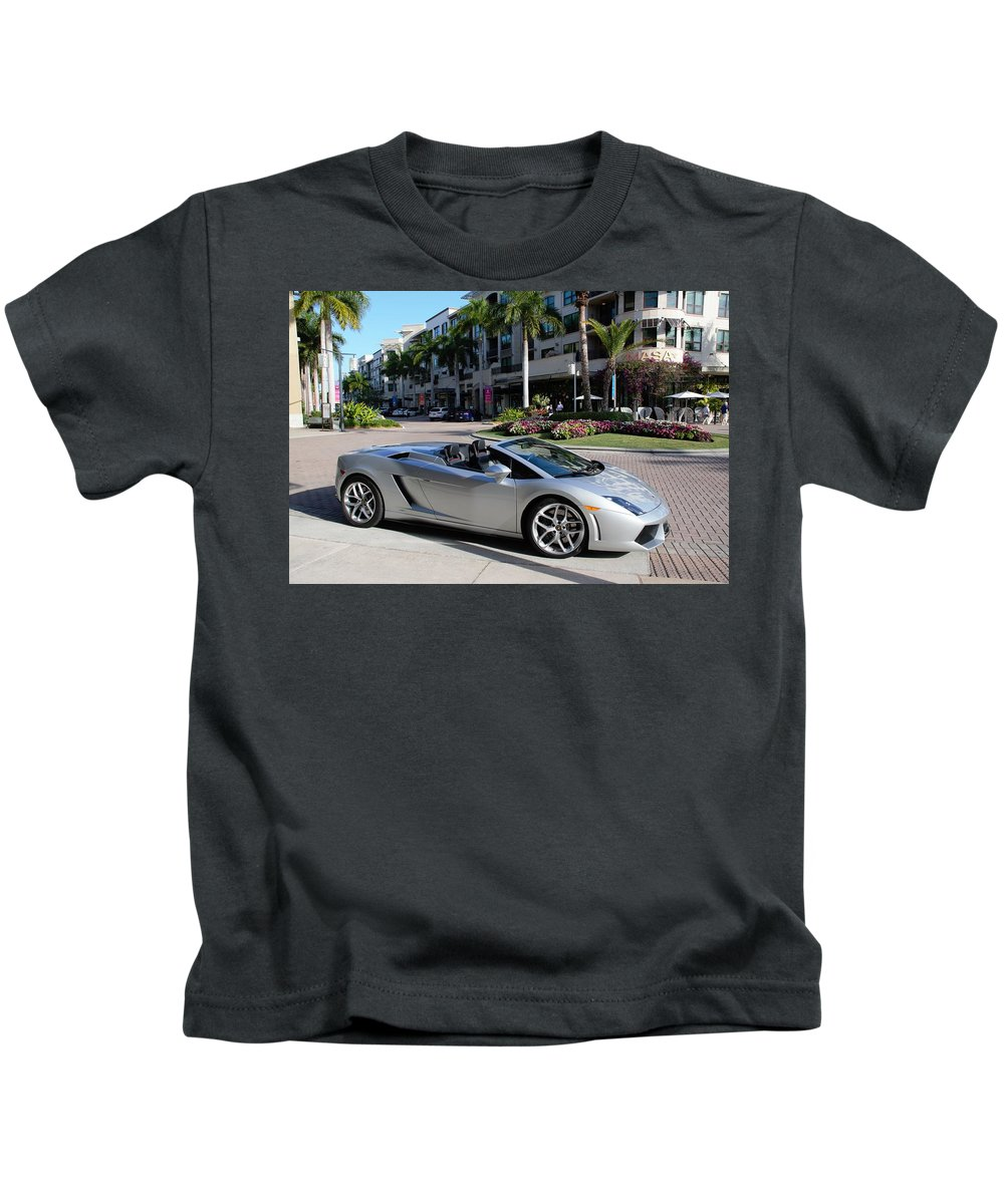 Lamborghini Gallardo Lp560 Kids T-Shirt featuring the photograph Lamborghini Gallardo Lp560 by Don Columbus