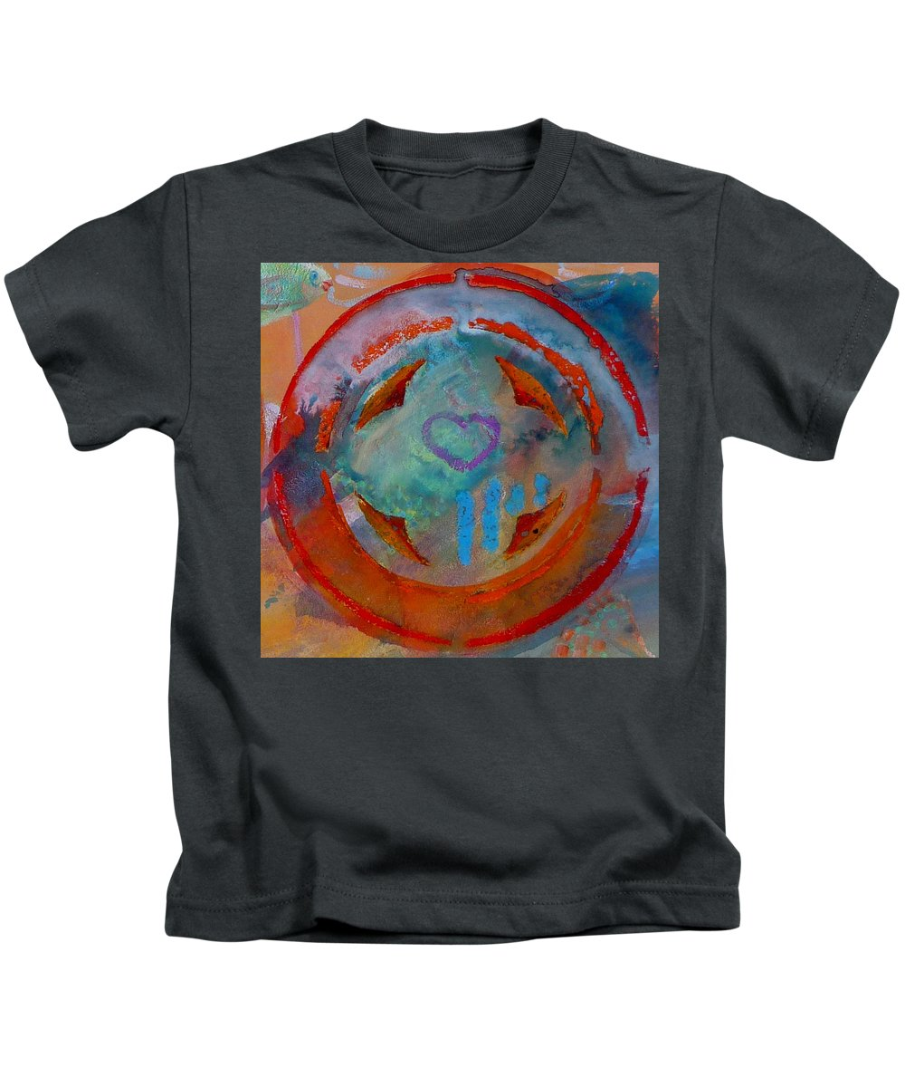 Love Kids T-Shirt featuring the painting Landscape Seascape by Charles Stuart