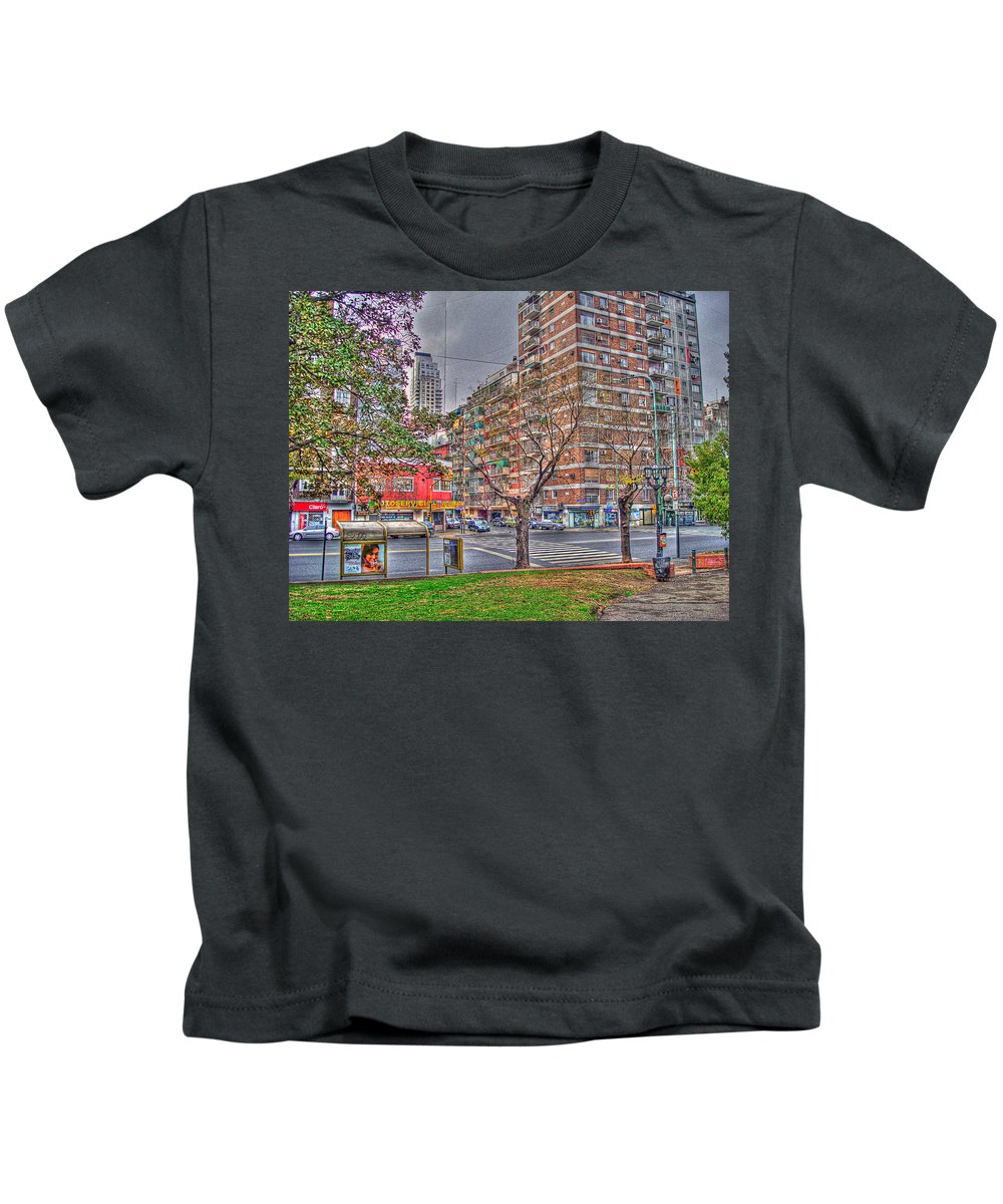 Street Kids T-Shirt featuring the photograph Las Heras by Francisco Colon
