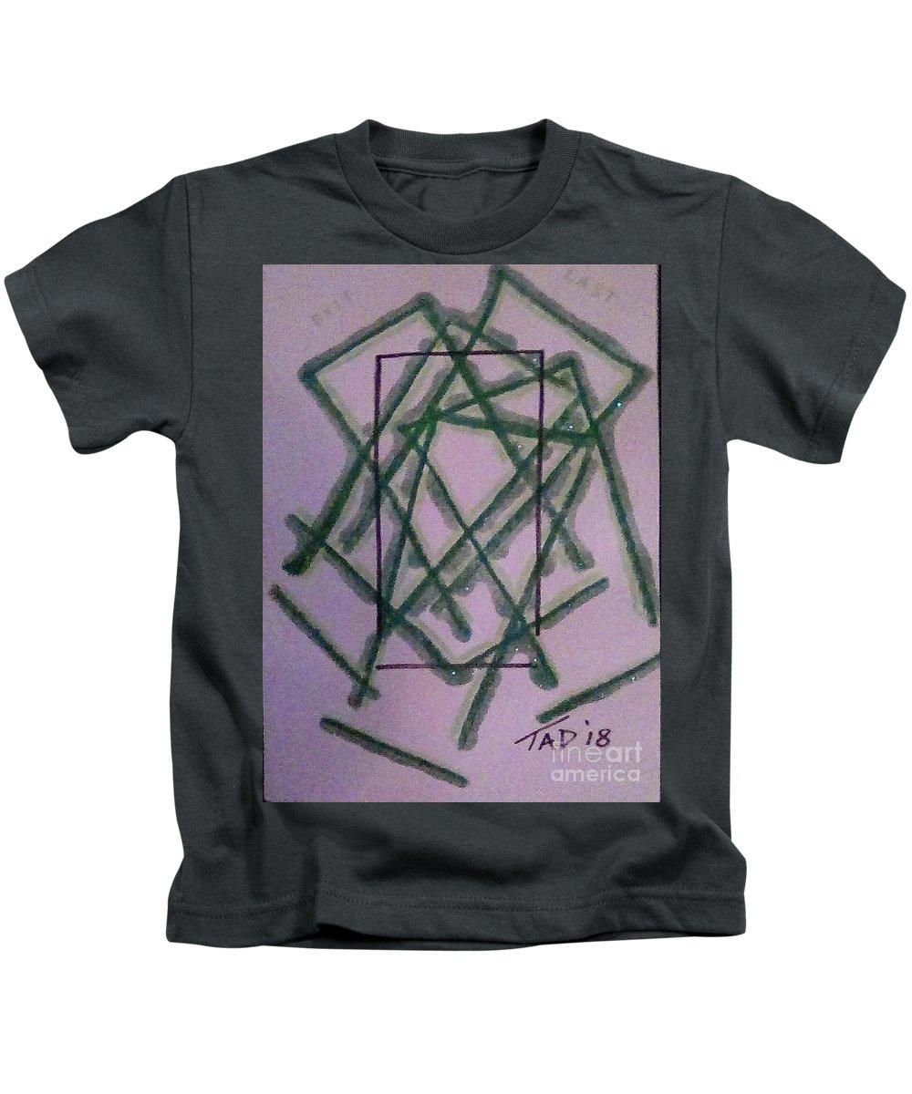 Door Kids T-Shirt featuring the mixed media Last Exit by Trevor Desrosiers