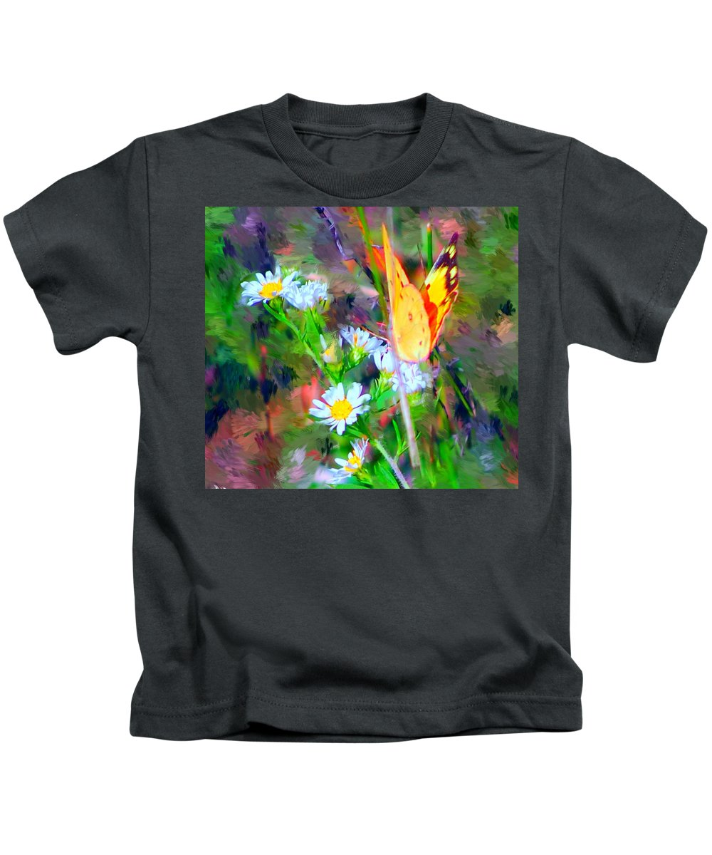 Landscape Kids T-Shirt featuring the painting Last Of The Season by David Lane