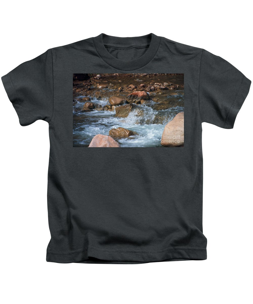Creek Kids T-Shirt featuring the photograph Laughing Water by Kathy McClure