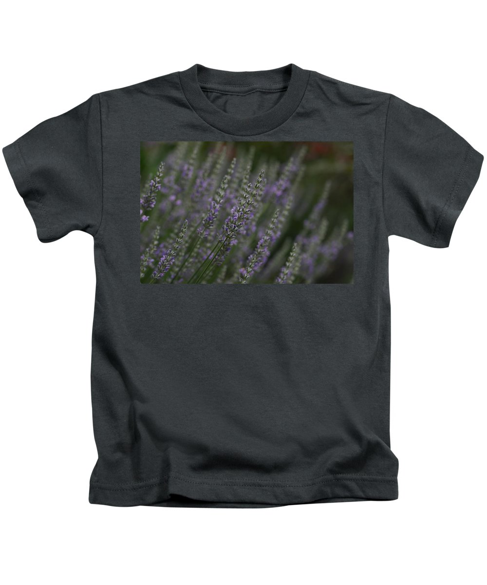 Lavender Kids T-Shirt featuring the photograph Lavender by Carrie Goeringer