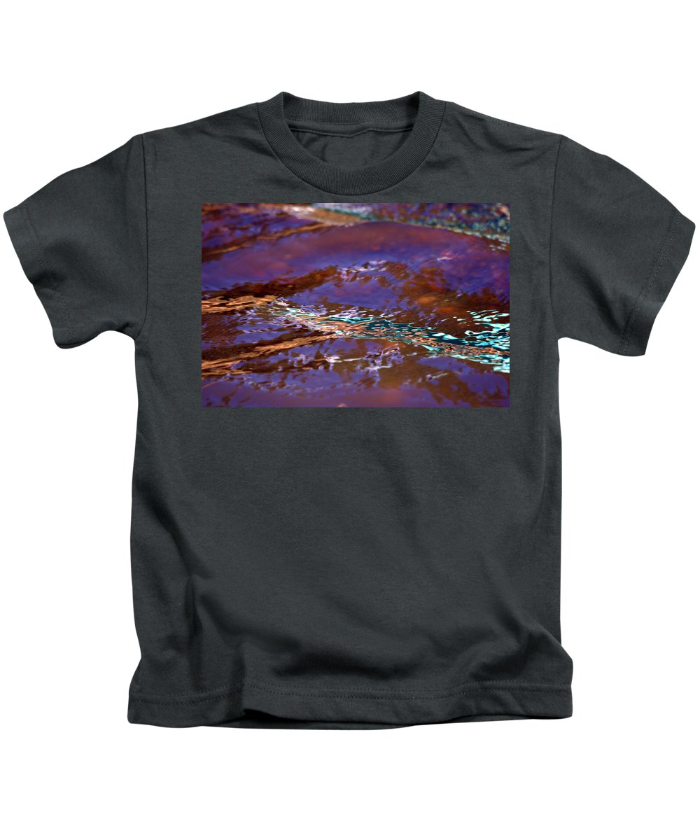 Water Kids T-Shirt featuring the photograph Lavender N Lace by Donna Blackhall