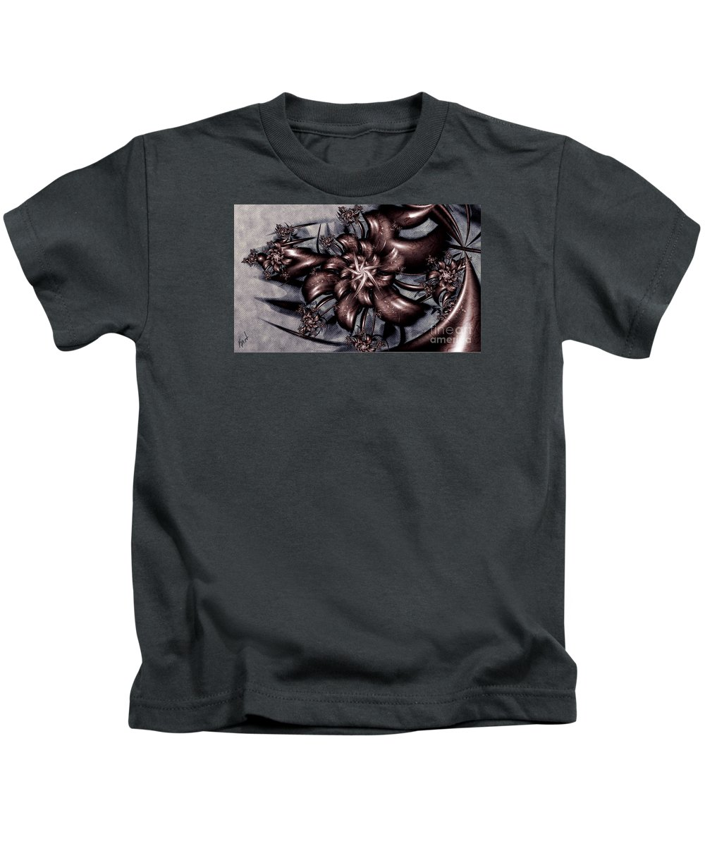 Le Chemin Kids T-Shirt featuring the digital art Le Chemin by Kimberly Hansen
