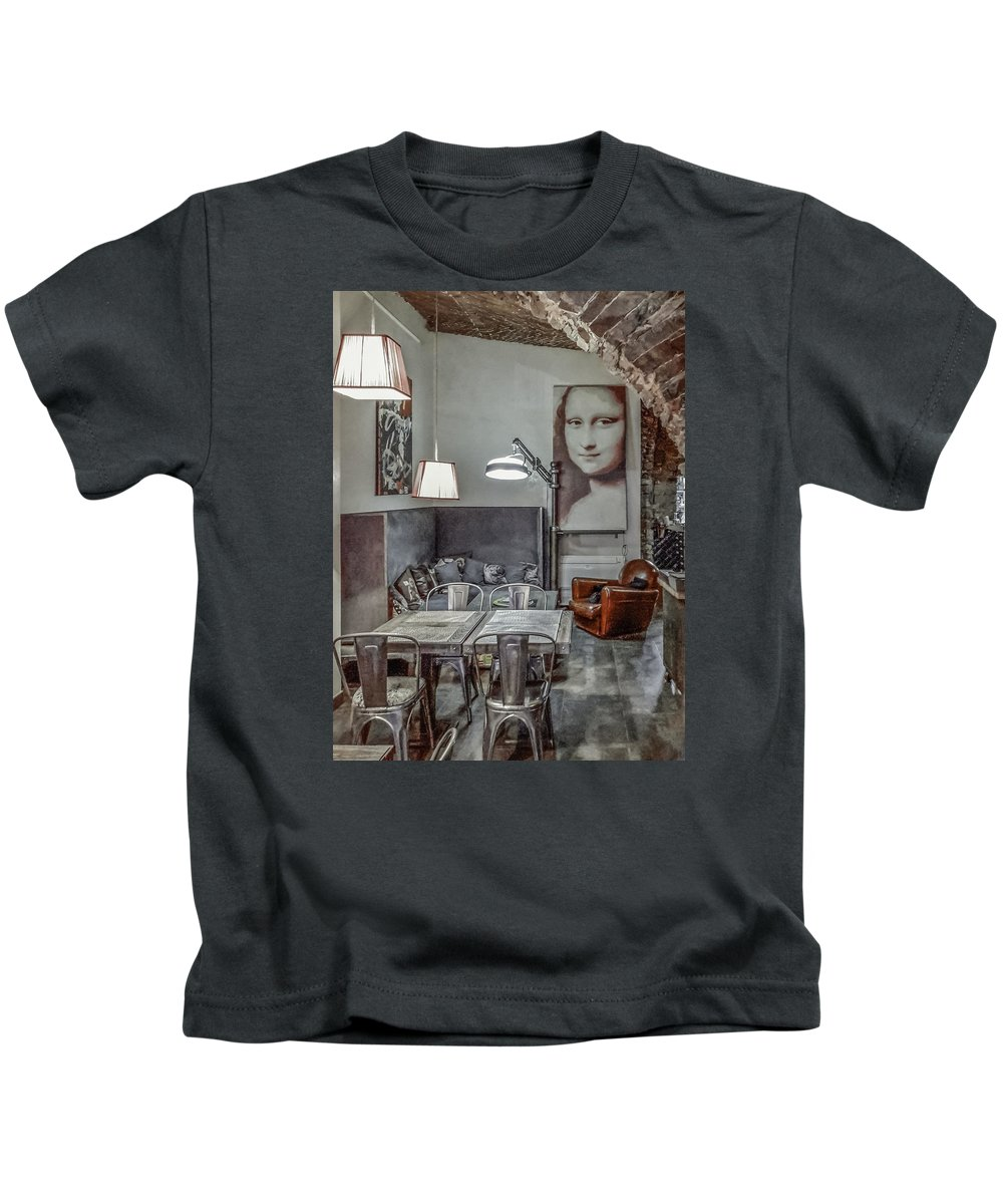 Bastia Kids T-Shirt featuring the photograph Lunch With A Smile by Jim Collier