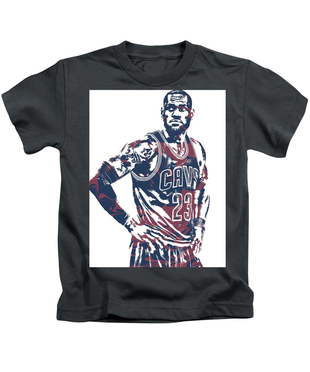 130f0f7dea1c Lebron James Kids T-Shirt featuring the mixed media Lebron James Cleveland  Cavaliers Pixel Art
