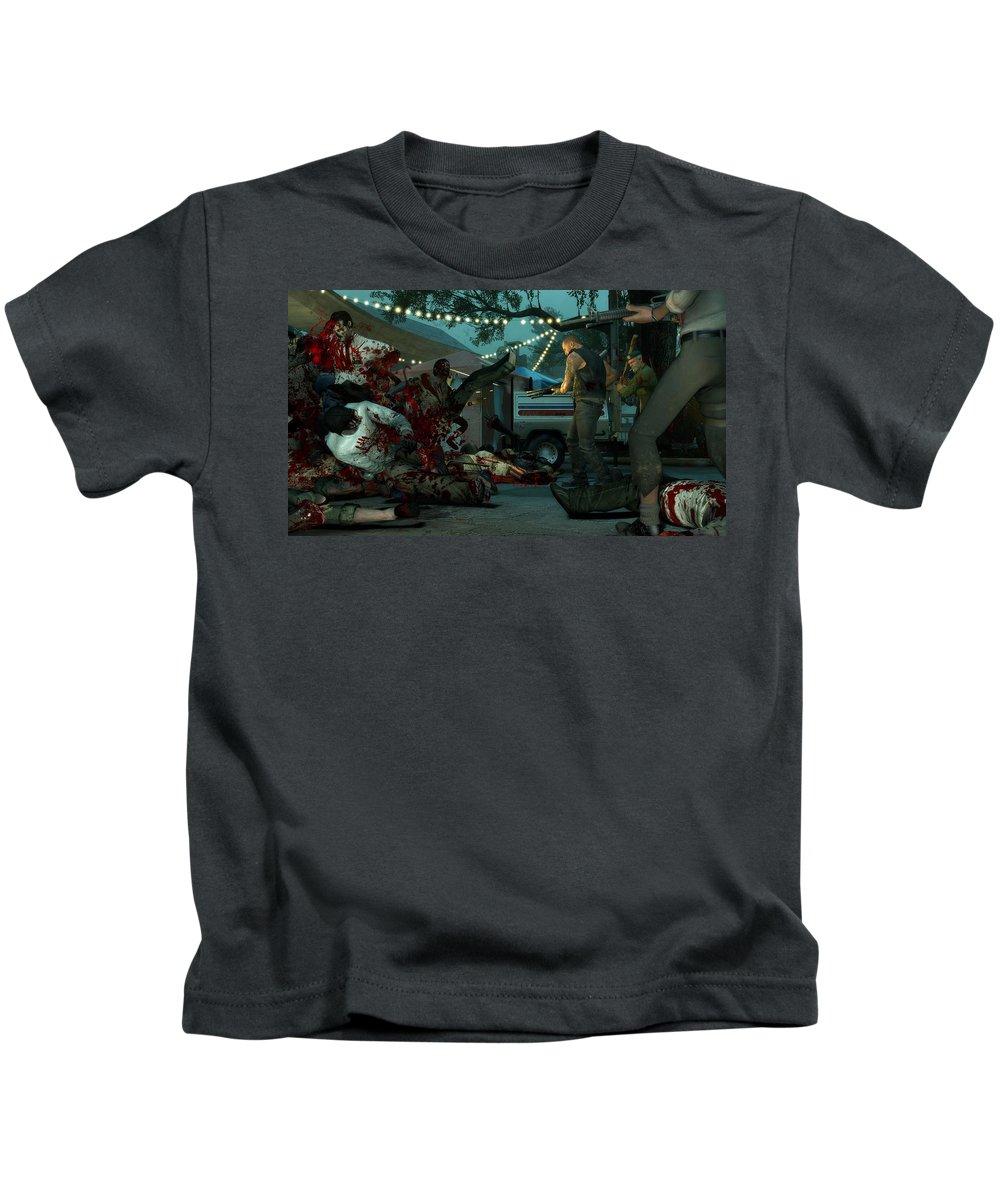 Left 4 Dead Kids T-Shirt featuring the digital art Left 4 Dead by Dorothy Binder
