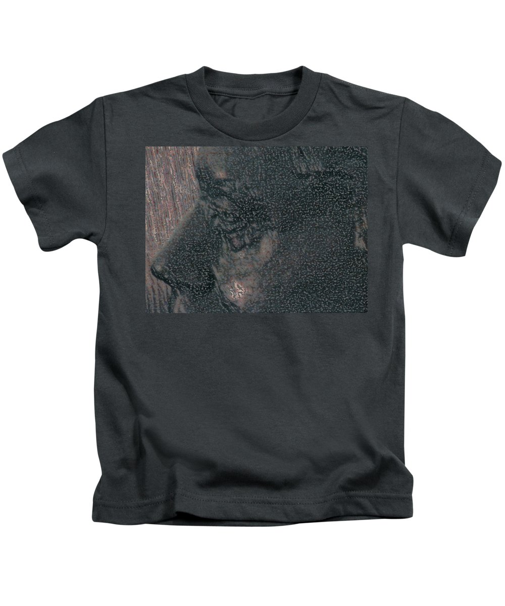 Abstract Kids T-Shirt featuring the photograph Lenore As Bronze 2 by Lenore Senior