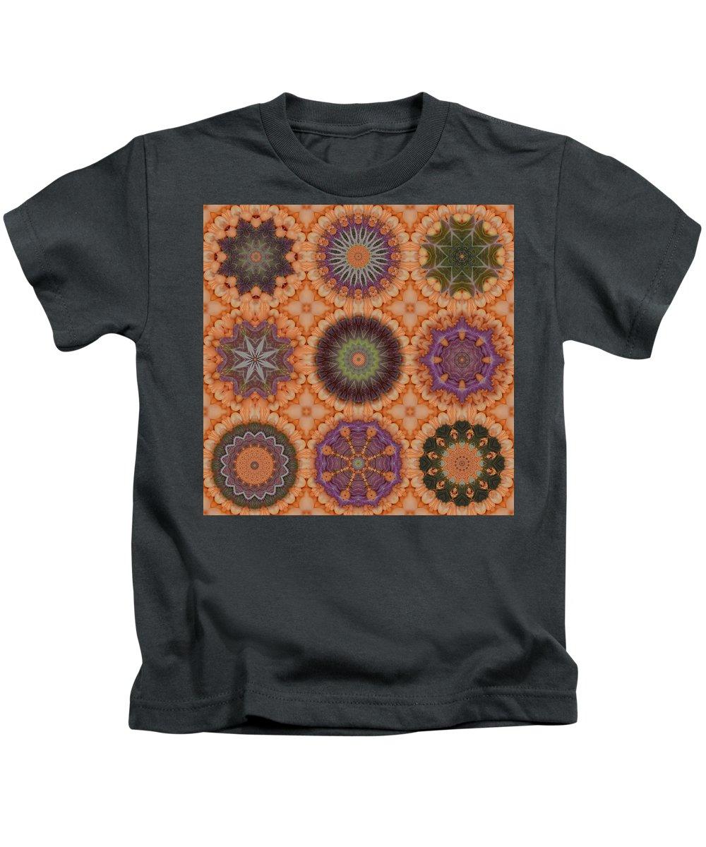 Karen Hochman Brown Kids T-Shirt featuring the photograph Lentil Purple Cauliflower Medallions by Karen Hochman Brown