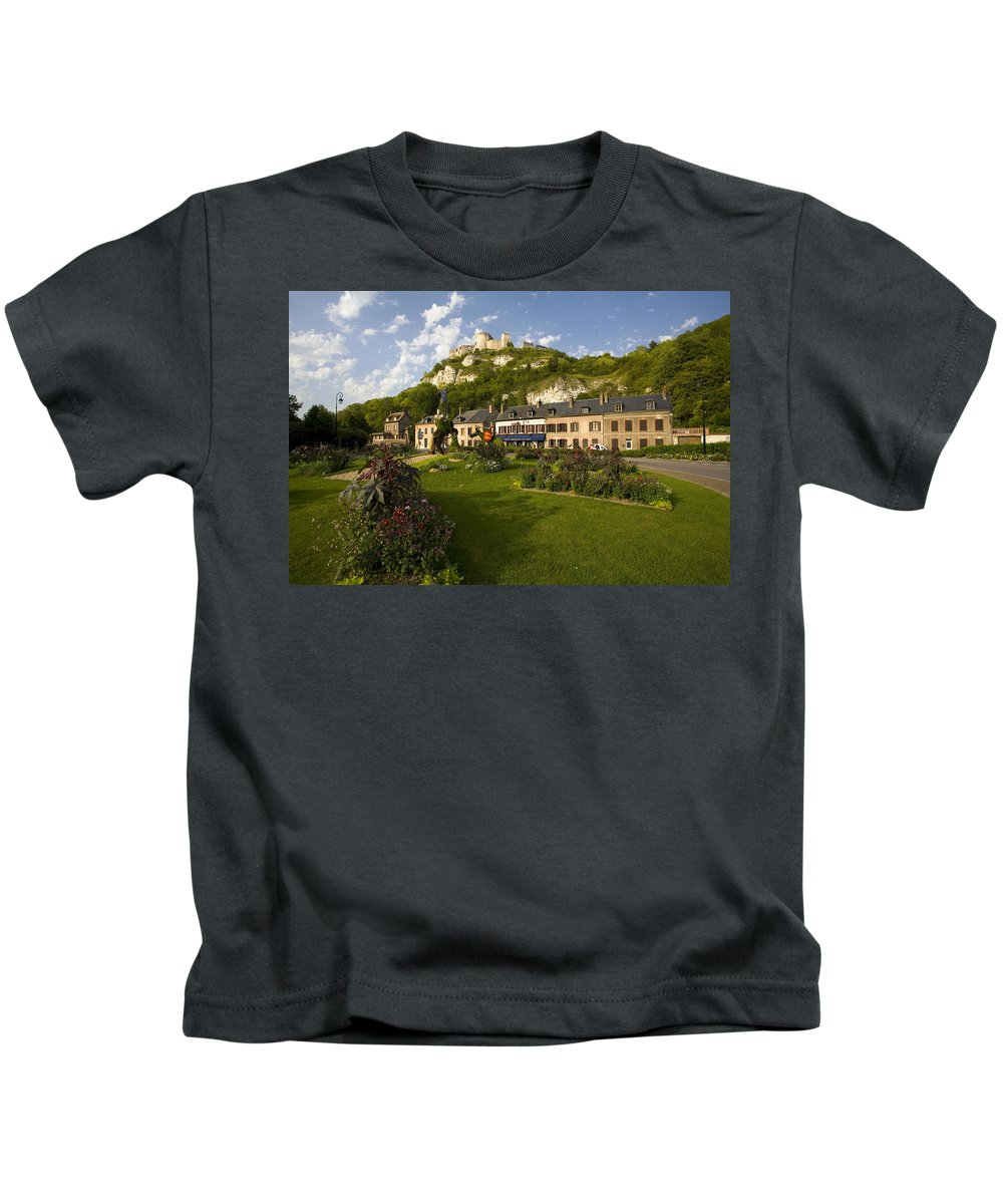 Les Andelys Kids T-Shirt featuring the photograph Les Andelys France by Sheila Smart Fine Art Photography
