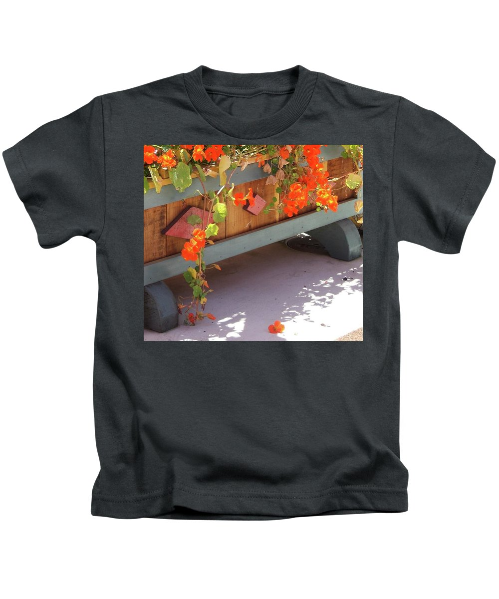 Nasturtium Kids T-Shirt featuring the photograph Let's Call In by Shannon Grissom