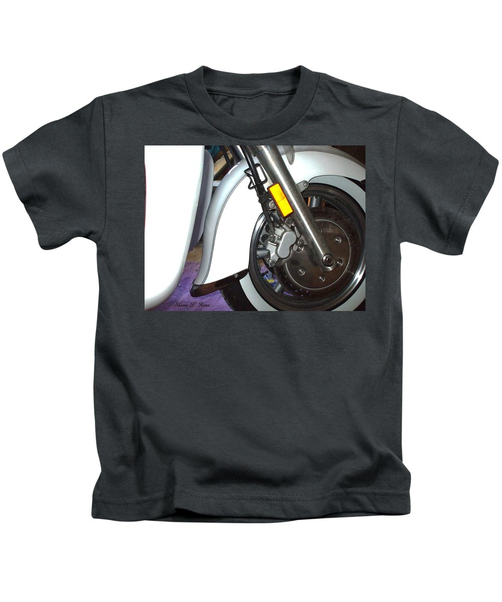 Motorcycle Kids T-Shirt featuring the photograph Lets Roll by Shana Rowe Jackson