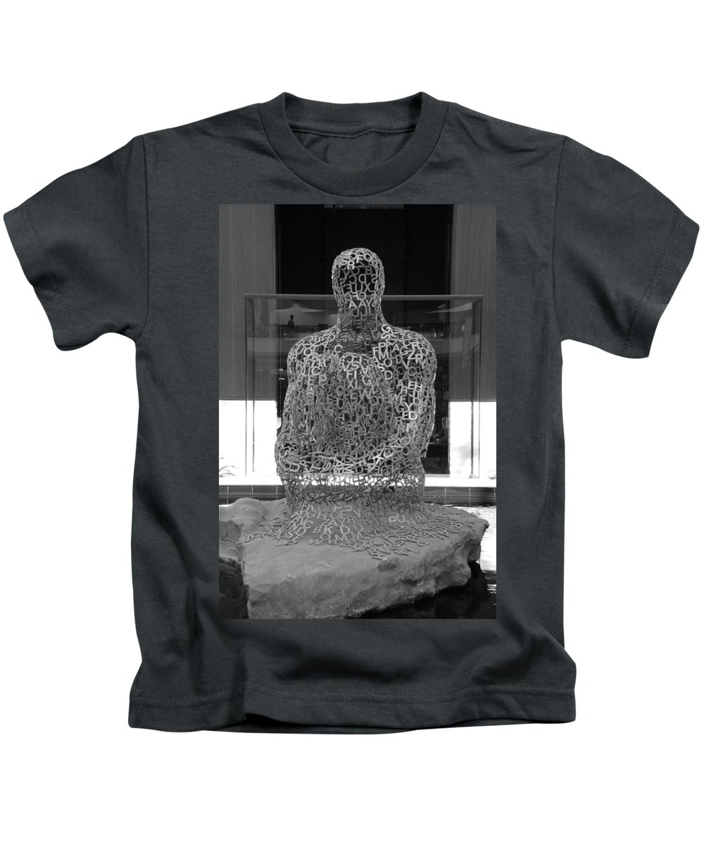 Black And White Kids T-Shirt featuring the photograph Letter Man by Rob Hans