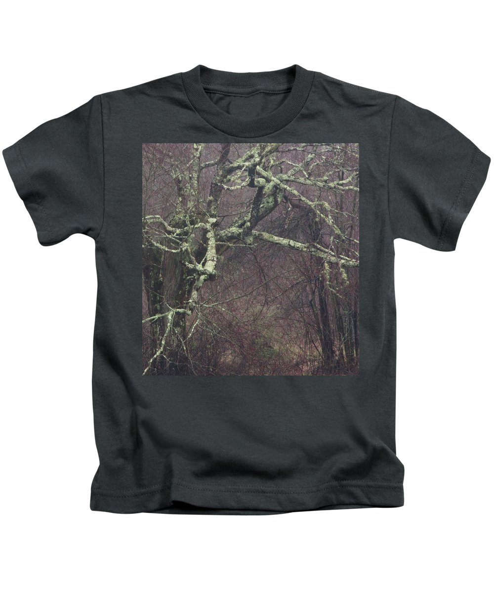 Photography Kids T-Shirt featuring the photograph Lichen by Steven Natanson