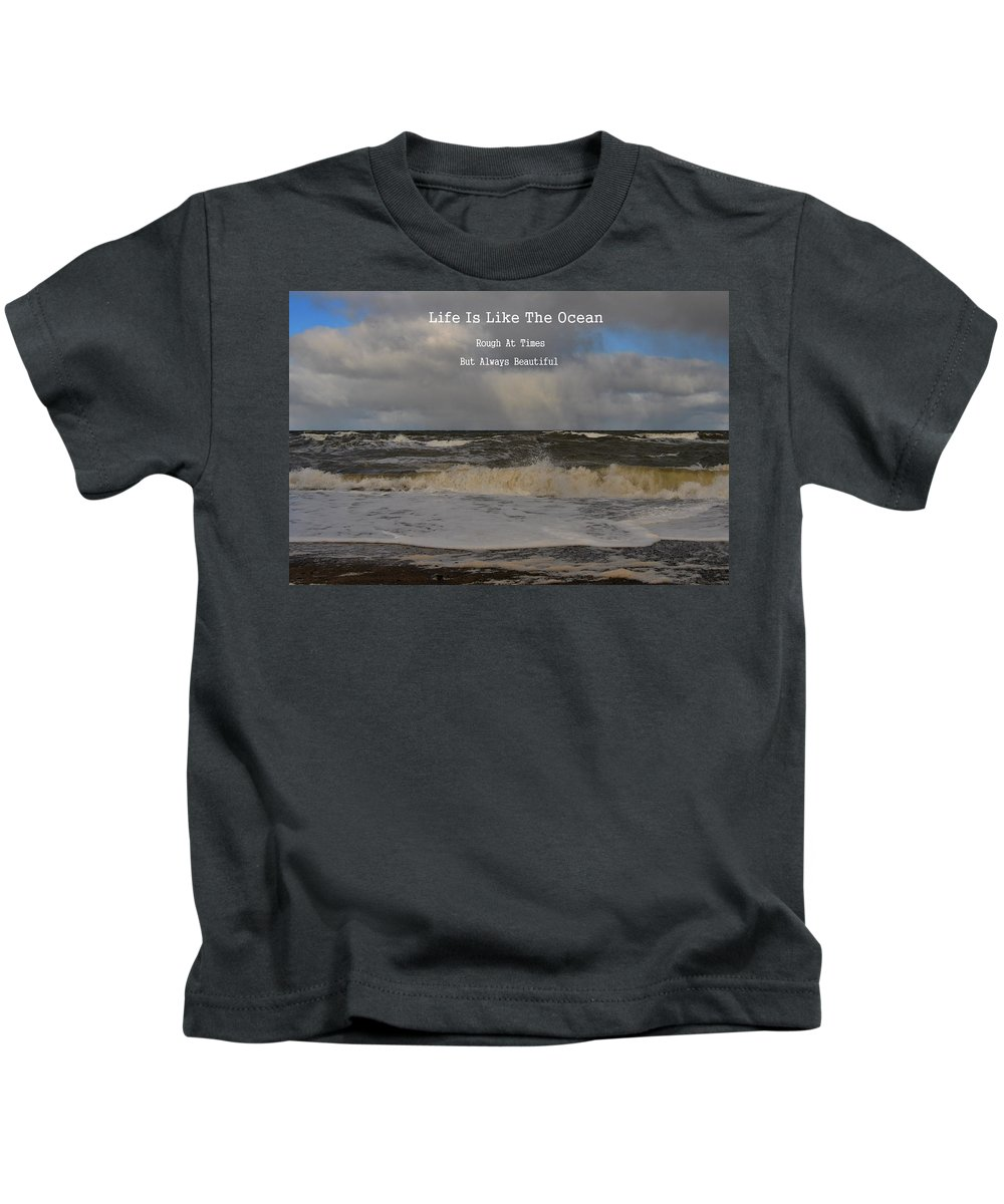 Kids T-Shirt featuring the photograph Lif Is Beautiful by Kathleen Sartoris