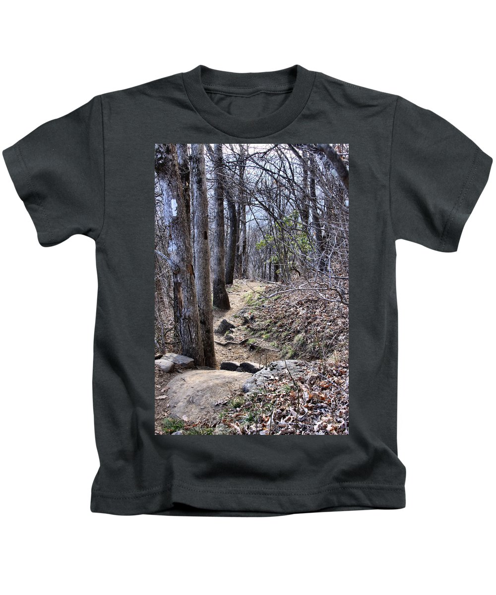 Kids T-Shirt featuring the photograph Life Is Not A Rocky Road... This Is... by Maris Salmins