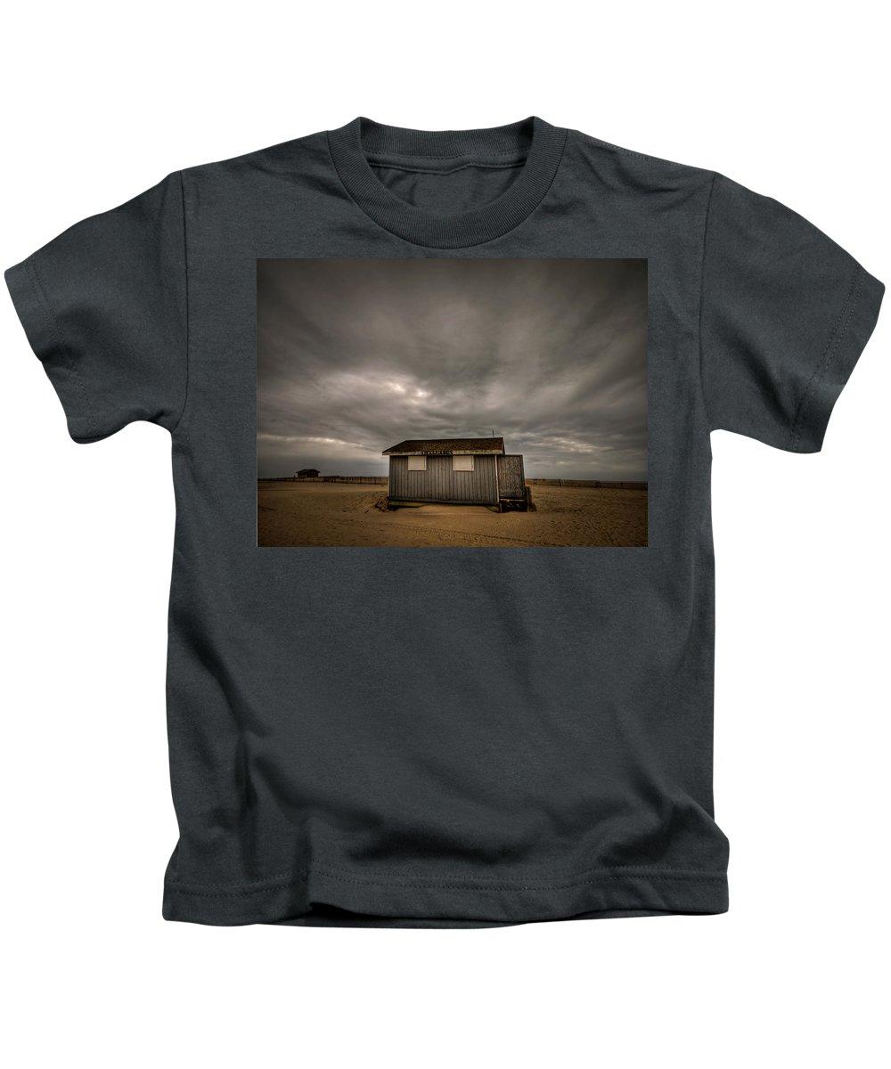 Beach Kids T-Shirt featuring the photograph Lifeguard Shack by Evelina Kremsdorf